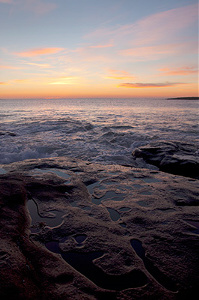 Photo of sunrise at Kioloa Beach, on the south coast of New South Wales, Australia